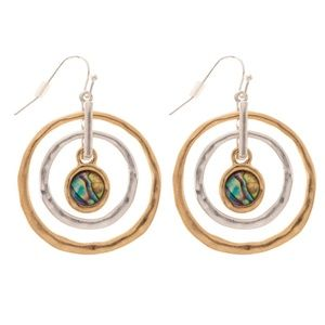 Jewelry - 🆕 Silver & Gold Circle Dangle Earrings